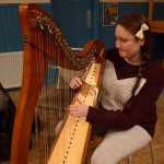 Nadia plays clarsach at Sunday session