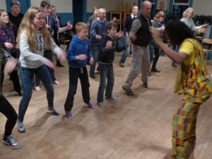 Dance workshop with Adie Baako, Jan 2015